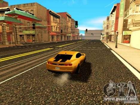 Chevrolet Camaro SS 2010 para vista lateral GTA San Andreas