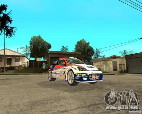 Ford Focus WRC 2002 para la visión correcta GTA San Andreas