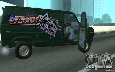 Ford E-150 Short Version v4 para GTA San Andreas vista posterior izquierda