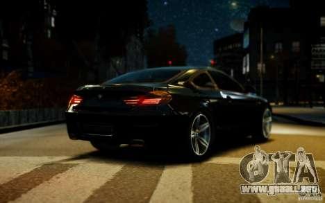 BMW 640i F12 para GTA 4 vista hacia atrás