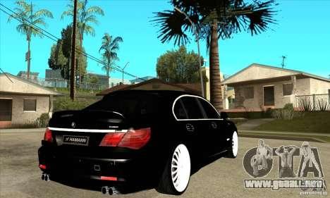 BMW 7-er F02 HAMANN 2010 para la visión correcta GTA San Andreas