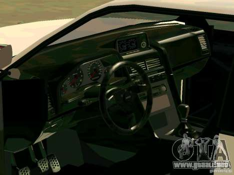 New Sultan v1.0 para GTA San Andreas interior