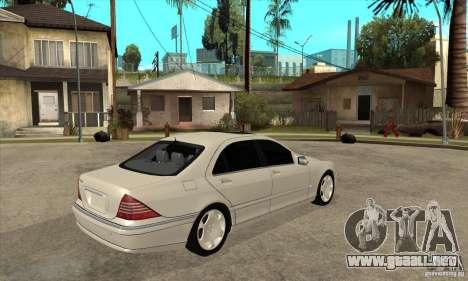 Mercedes Benz S600 para la visión correcta GTA San Andreas