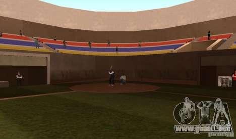 Campo de béisbol animado para GTA San Andreas sucesivamente de pantalla
