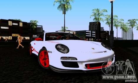 Porsche 911 GT3 RS para GTA San Andreas vista posterior izquierda