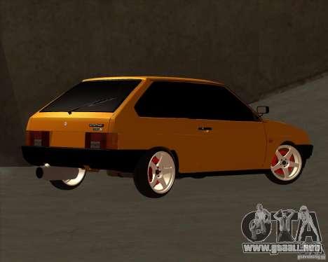 VAZ 2108 (versión con discos blancos) para GTA San Andreas vista hacia atrás