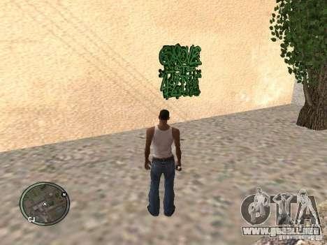 My Gang Tags para GTA San Andreas sucesivamente de pantalla