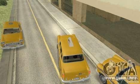 Checker Marathon 1977 Taxi para GTA San Andreas vista posterior izquierda