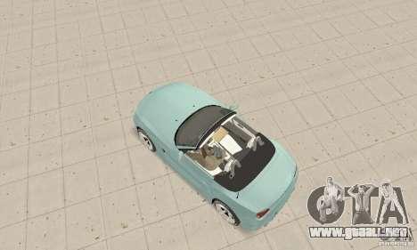 BMW Z4 Roadster 2006 para GTA San Andreas vista posterior izquierda