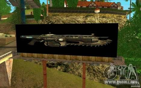 Vallas publicitarias en GEARS OF WAR para GTA San Andreas tercera pantalla