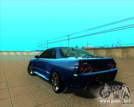 Nissan Skyline GT-R R32 1993 Tunable para GTA San Andreas vista hacia atrás