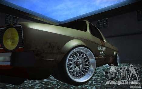 US Army Volkswagen Caddy para GTA San Andreas vista hacia atrás