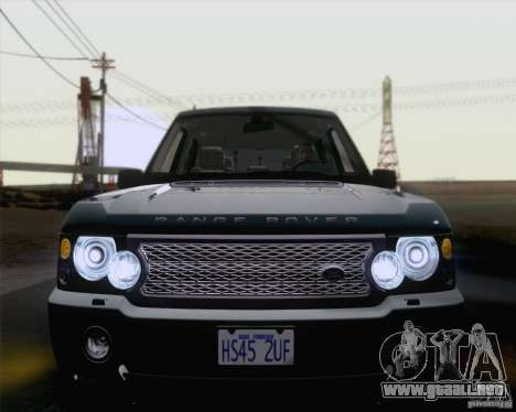 Land Rover Range Rover Supercharged 2008 para vista lateral GTA San Andreas