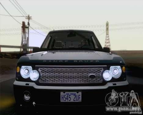 Land Rover Range Rover Supercharged 2008 para vista lateral GTA San Andreas