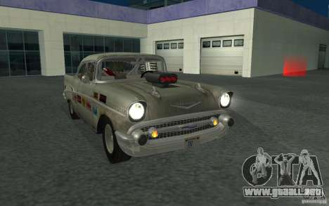 Chevrolet BelAir Bloodring Banger 1957 para GTA San Andreas vista hacia atrás