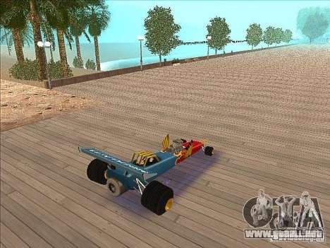 Dragg car para GTA San Andreas vista posterior izquierda
