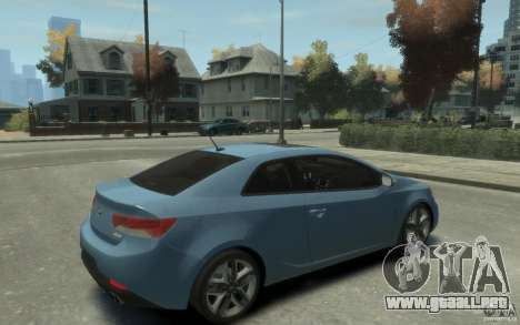 Kia Forte Koup SX para GTA 4 visión correcta