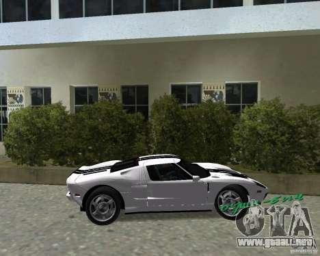 Ford GT para GTA Vice City visión correcta
