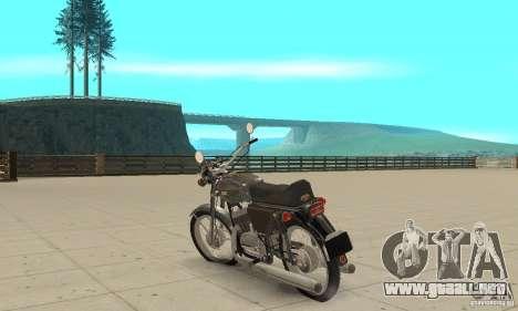 634V5 actualización Jawa 350 para GTA San Andreas vista posterior izquierda
