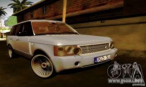Range Rover Supercharged para GTA San Andreas interior