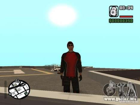 Skydiver para GTA San Andreas sucesivamente de pantalla