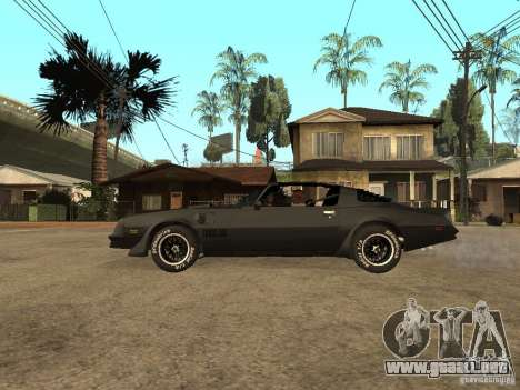 Pontiac Trans Am 1977 para GTA San Andreas left
