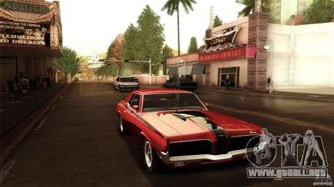 Mercury Cougar Eliminator 1970 para la visión correcta GTA San Andreas