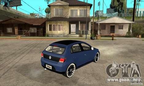 Volkswagen Gol Vintage para la visión correcta GTA San Andreas