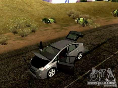 Toyota Prius Hybrid 2011 para visión interna GTA San Andreas