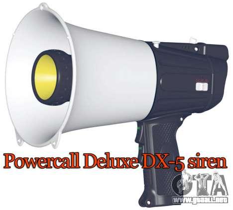 Powercall sirena Deluxe DX-5 para GTA 4