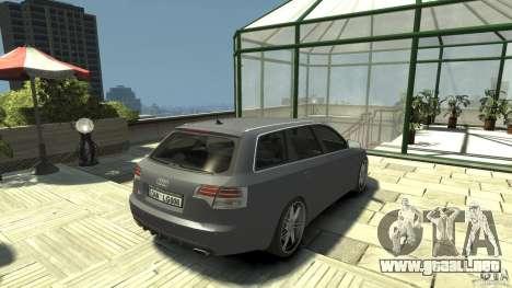 Audi A4 Avant beta para GTA 4 Vista posterior izquierda