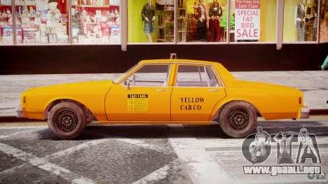 Chevrolet Impala Taxi 1983 [Final] para GTA 4 vista superior