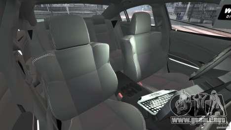 Dodge Charger Unmarked Police 2012 [ELS] para GTA 4 vista interior