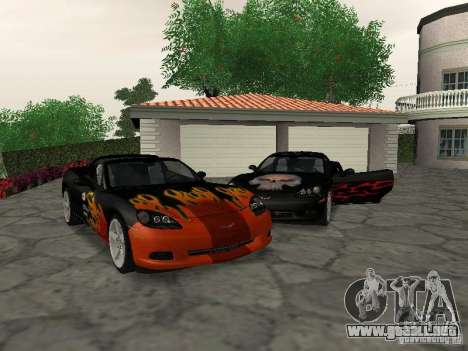 Chevrolet Corvette (C6) para vista inferior GTA San Andreas