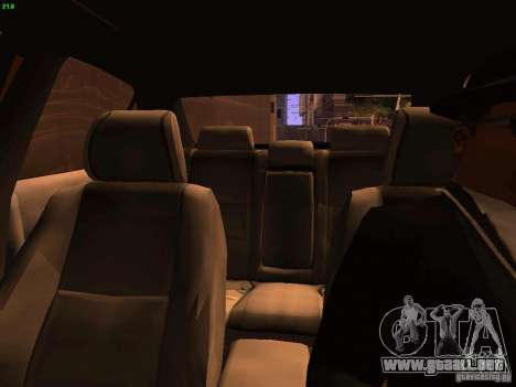 Lexus IS300 Taxi para la vista superior GTA San Andreas