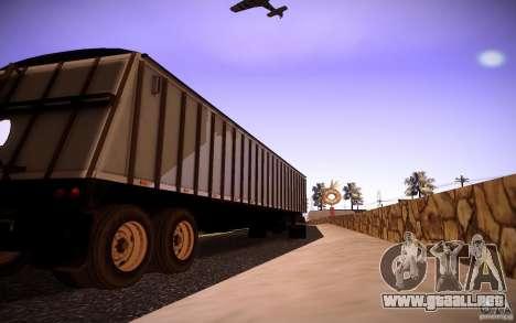 Dumper Trailer para GTA San Andreas vista posterior izquierda