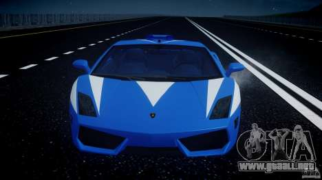 Lamborghini Gallardo LP560-4 Polizia para GTA motor 4
