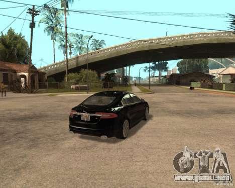 Jaguar XFR 2009 para la visión correcta GTA San Andreas