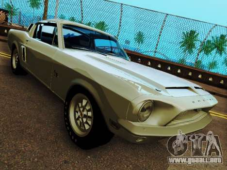 Shelby GT 500 KR para GTA San Andreas vista hacia atrás