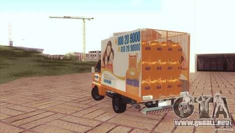 Hafei Camion de Gas para GTA San Andreas left