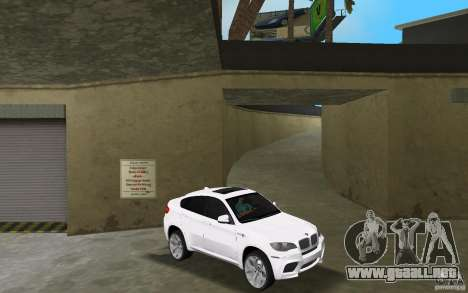 BMW X6M 2010 para GTA Vice City vista posterior