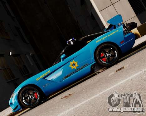 Dodge Viper SRT-10 ACR 2009 Police ELS para GTA 4 left