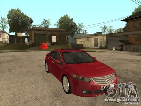 Honda Accord 2010 para GTA San Andreas vista hacia atrás