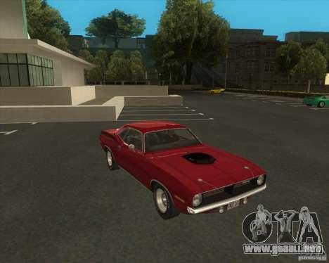 Plymouth Hemi Cuda 1970 440 del NFS PS para la visión correcta GTA San Andreas