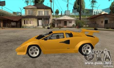 Lamborghini Countach para GTA San Andreas left