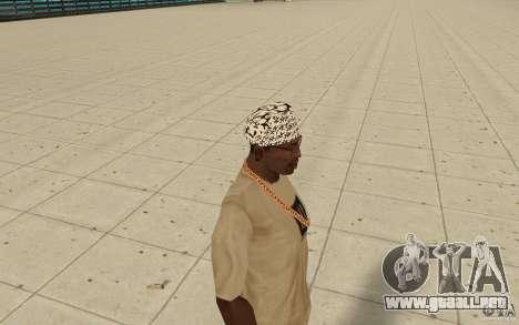 Letras de Bandana kitay para GTA San Andreas segunda pantalla