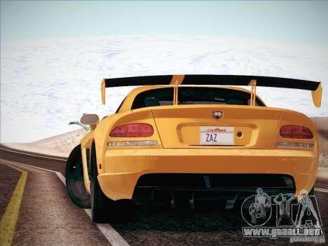 Dodge Viper SRT-10 ACR para GTA San Andreas vista hacia atrás