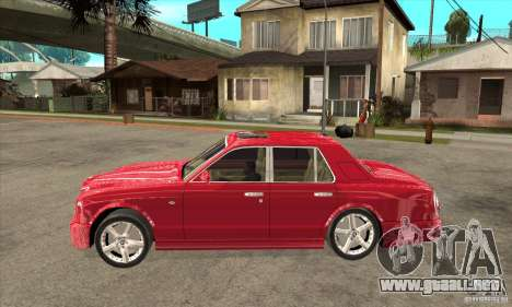 Bentley Arnage T para GTA San Andreas vista posterior izquierda