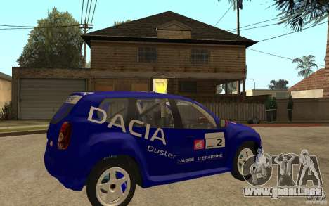 Dacia Duster Rally para la visión correcta GTA San Andreas