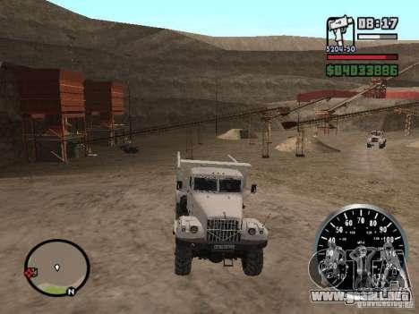 Camión KRAZ 225 para la vista superior GTA San Andreas